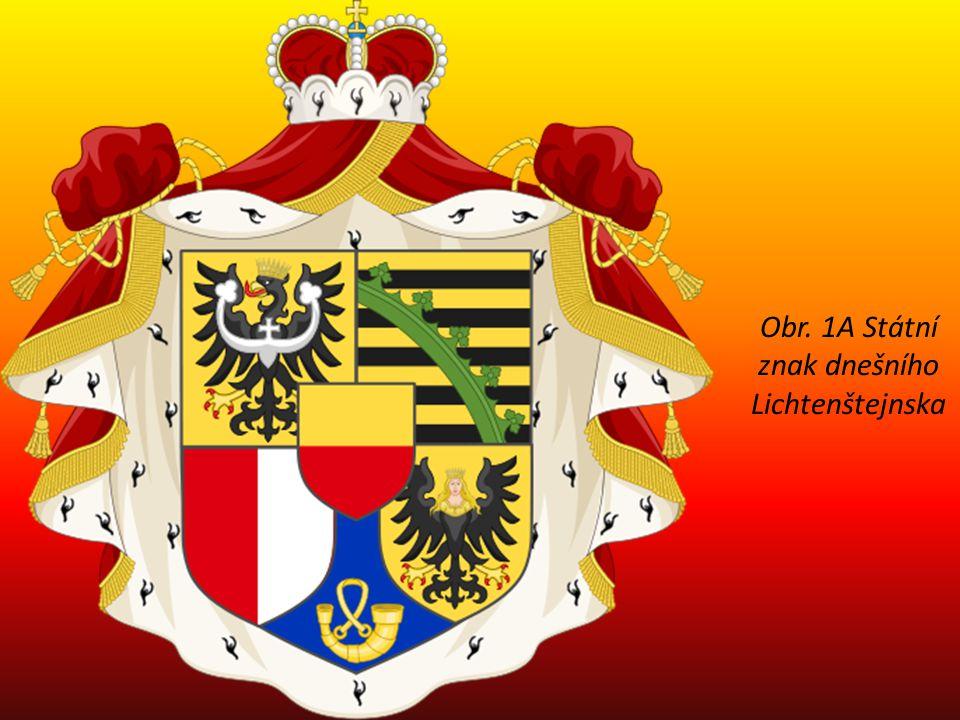 Obr. 1A Státní znak dnešního Lichtenštejnska