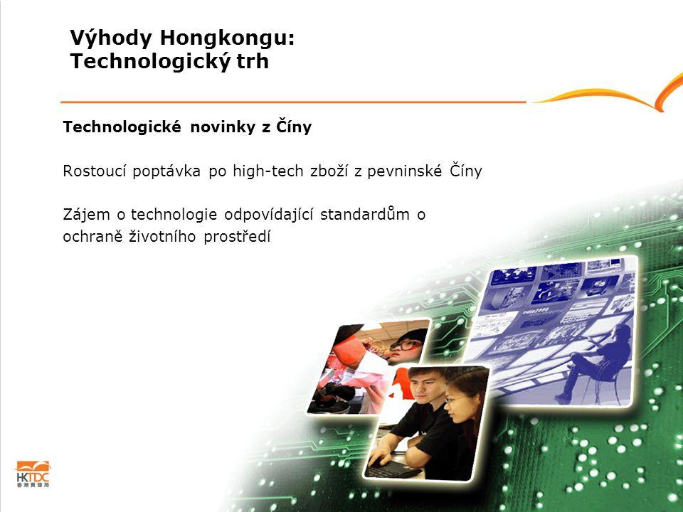 Technologické novinky z Číny Rostoucí poptávka po high-tech zboží z pevninské Číny Zájem o technologie odpovídající standardům o ochraně životního pro