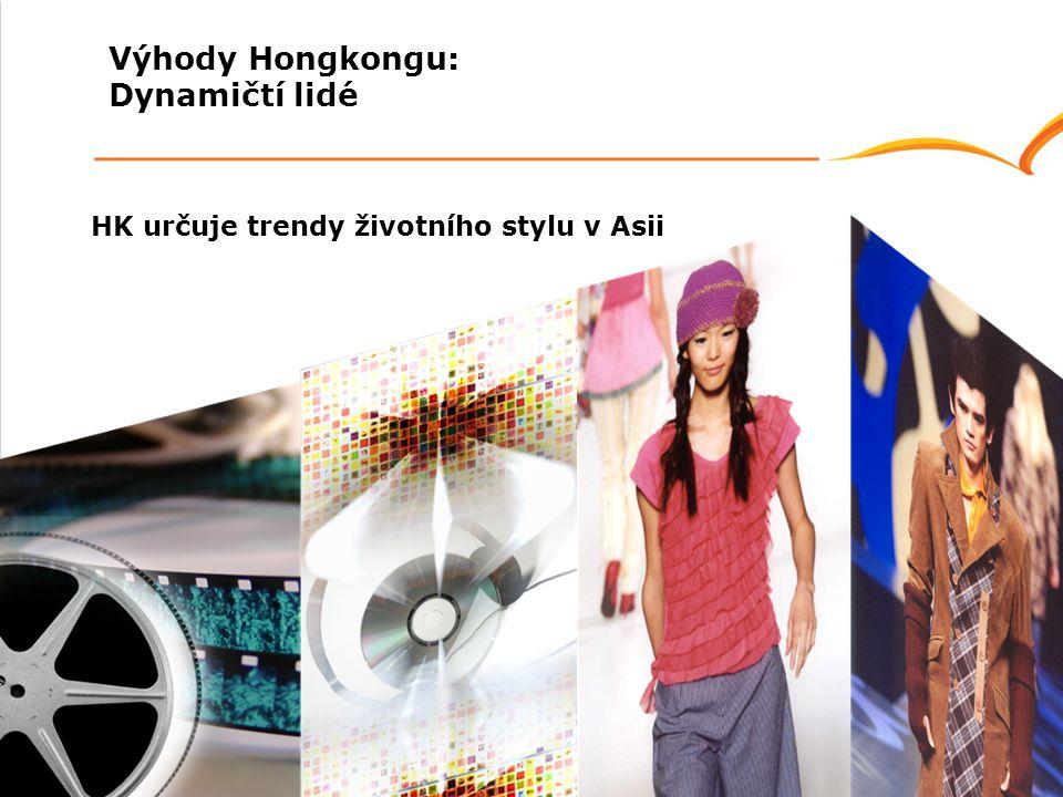 HK určuje trendy životního stylu v Asii Výhody Hongkongu: Dynamičtí lidé