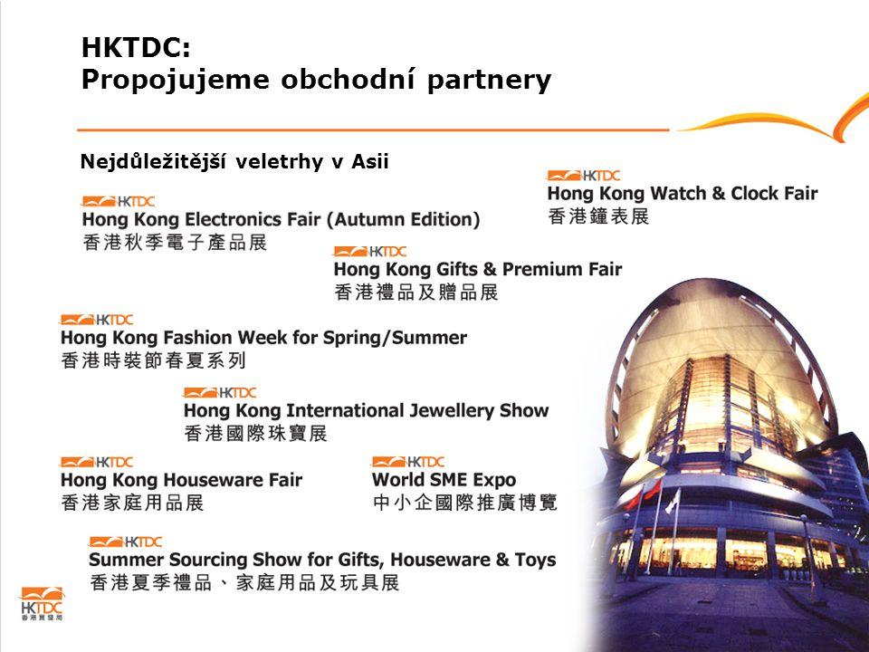 Nejdůležitější veletrhy v Asii HKTDC: Propojujeme obchodní partnery
