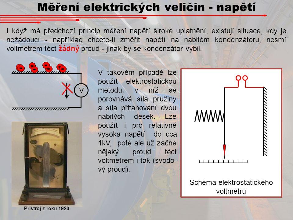 Měření elektrických veličin - napětí I když má předchozí princip měření napětí široké uplatnění, existují situace, kdy je nežádoucí - například chcete