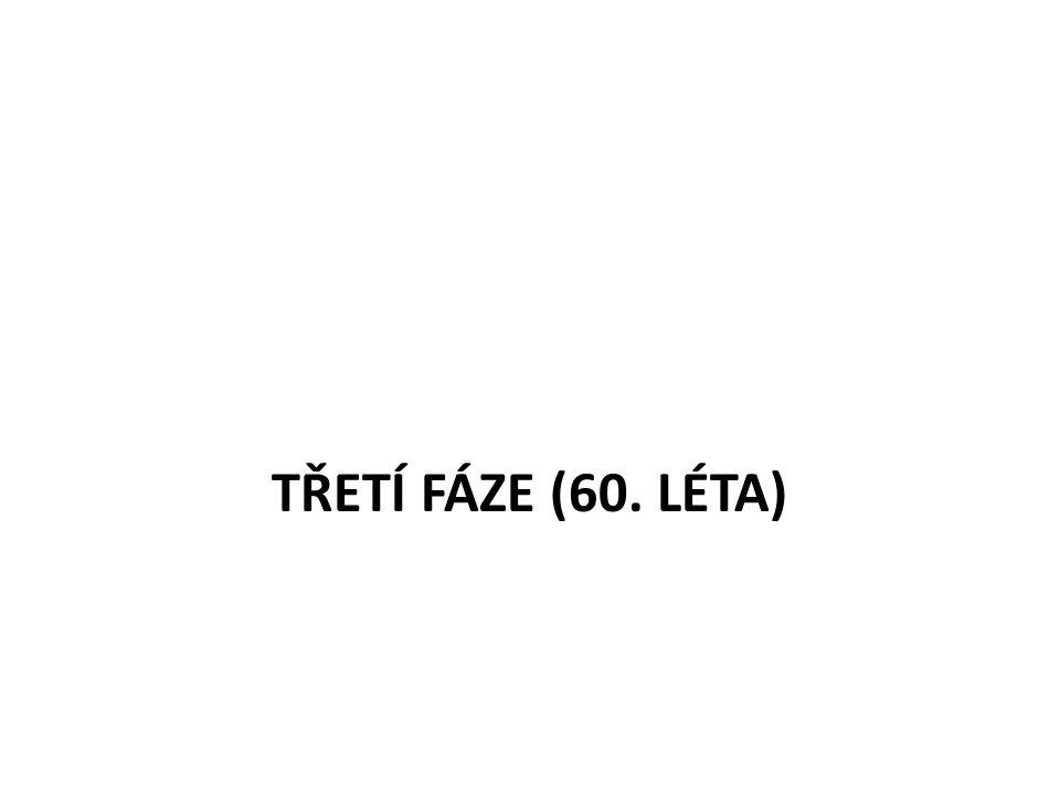 TŘETÍ FÁZE (60. LÉTA)