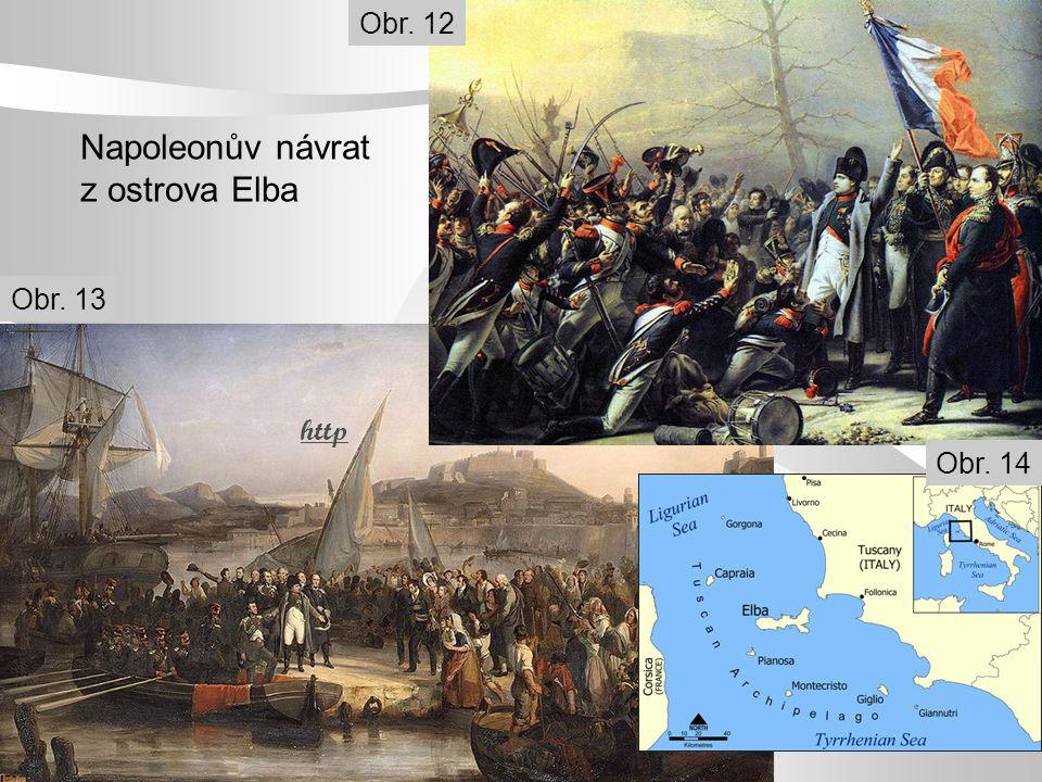 Napoleonův návrat z ostrova Elba http Obr. 12 Obr. 13 Obr. 14