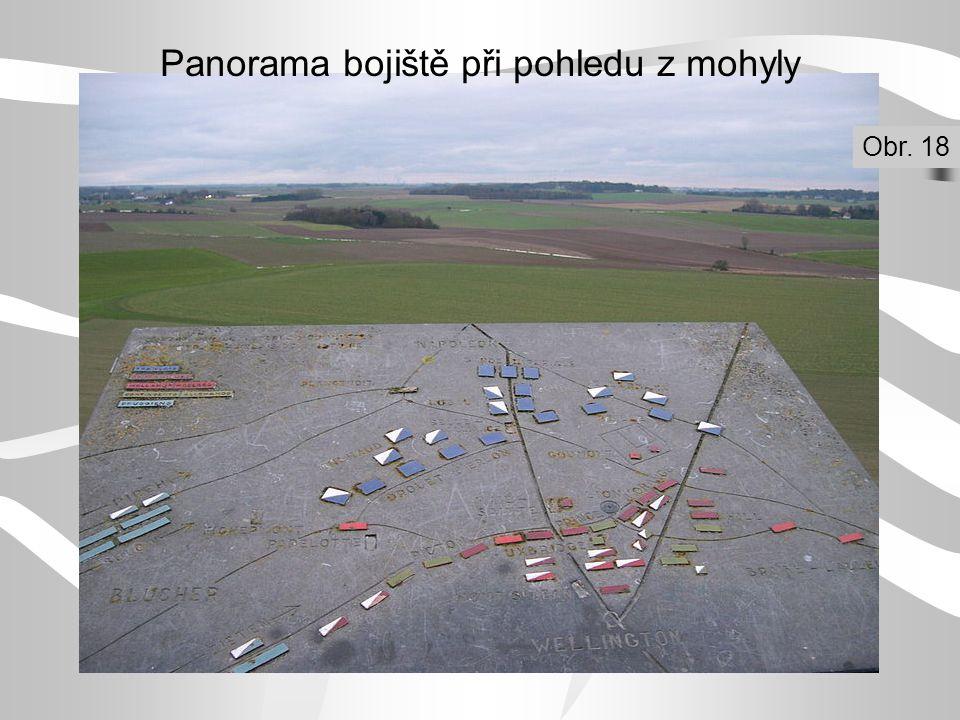 Panorama bojiště při pohledu z mohyly Obr. 18