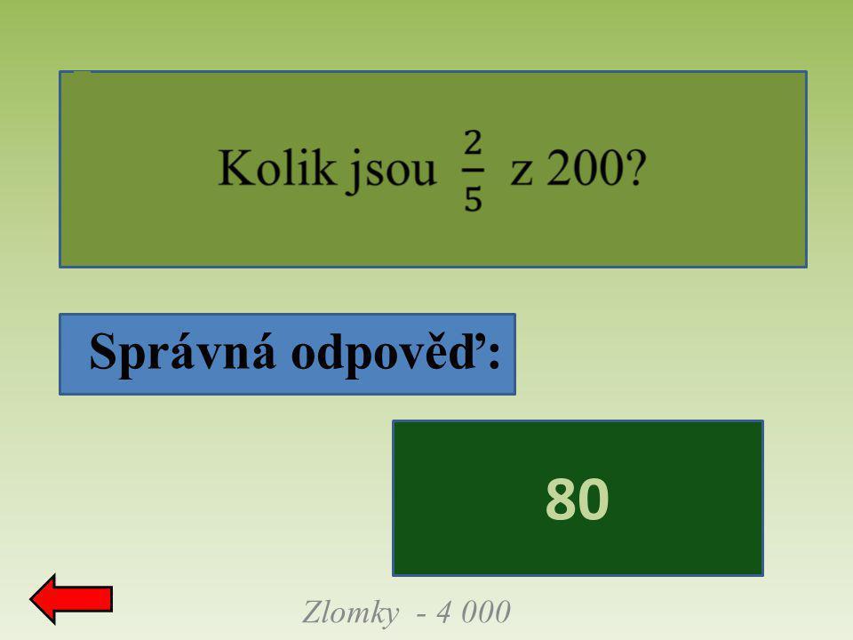 Správná odpověď: Zlomky - 4 000 80