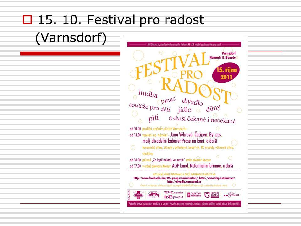  15. 10. Festival pro radost (Varnsdorf)