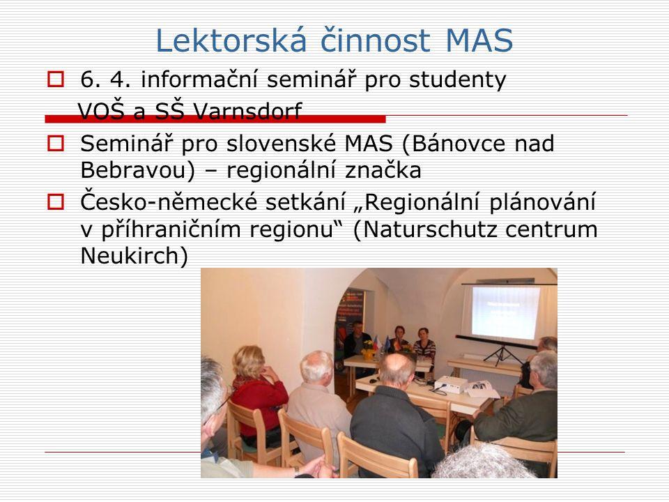 Lektorská činnost MAS  6. 4.