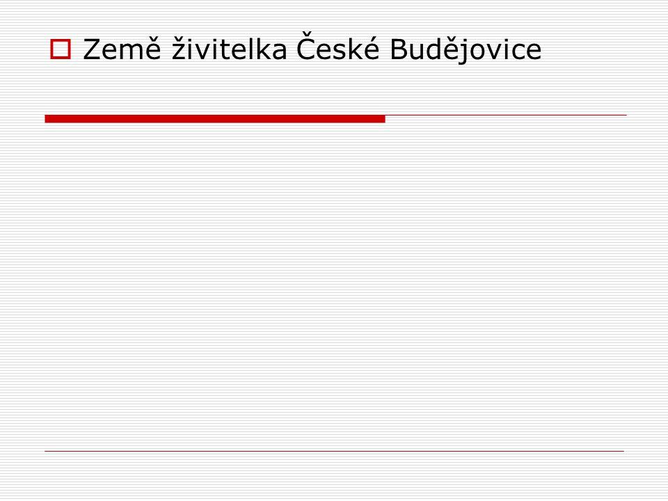  Země živitelka České Budějovice