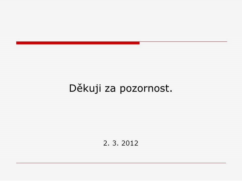 Děkuji za pozornost. 2. 3. 2012
