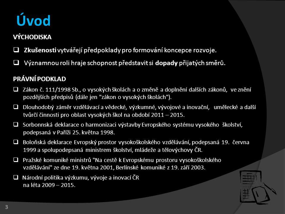 1.Reforma terciárního vzdělávání. 2. Národní kvalifikační rámec terciárního vzdělávání (Q-RAM).