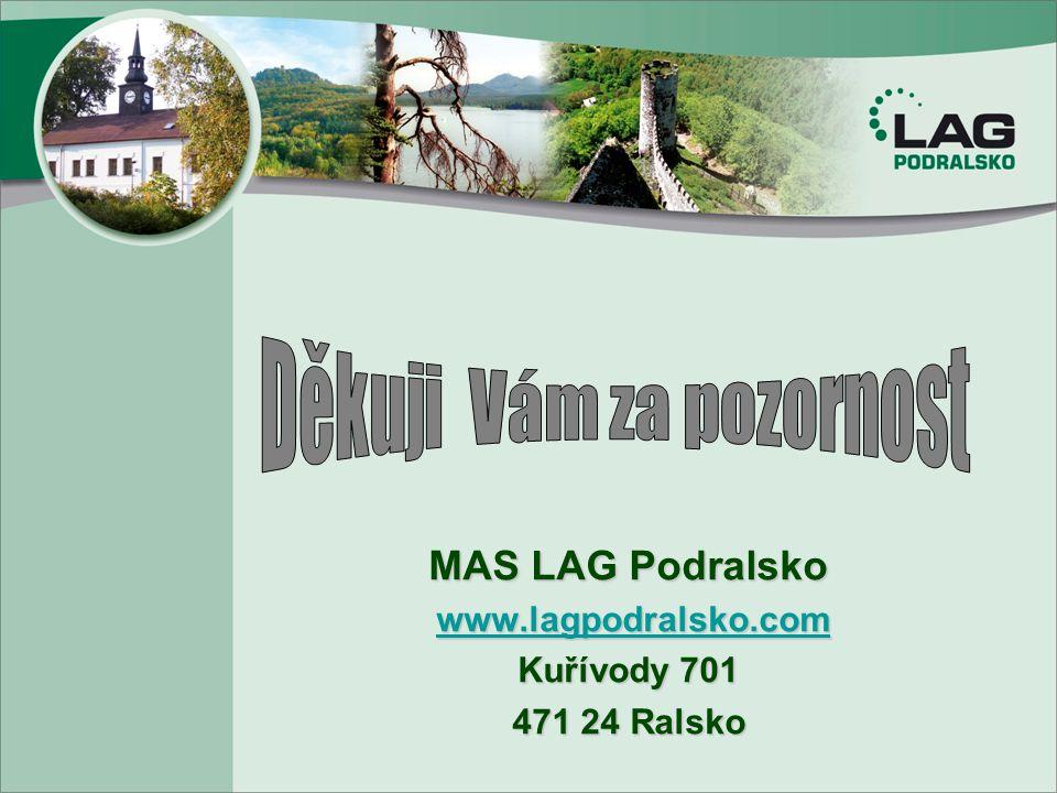 MAS LAG Podralsko www.lagpodralsko.com www.lagpodralsko.comwww.lagpodralsko.com Kuřívody 701 471 24 Ralsko