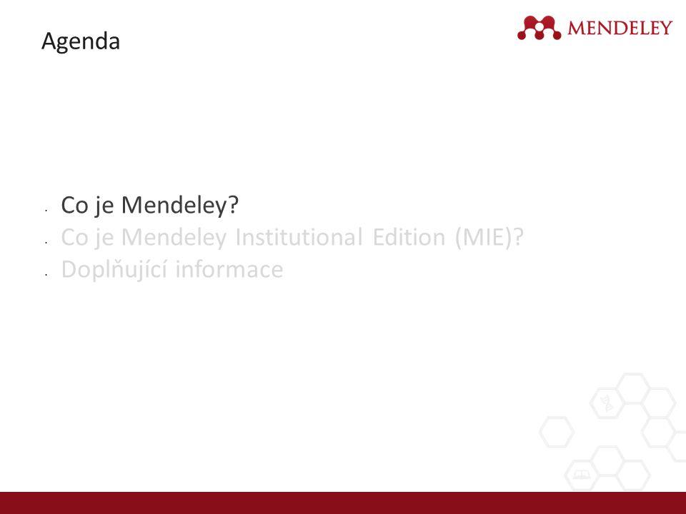 Co je Mendeley.