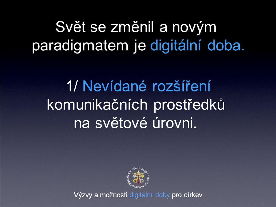 Svět se změnil a novým paradigmatem je digitální doba.