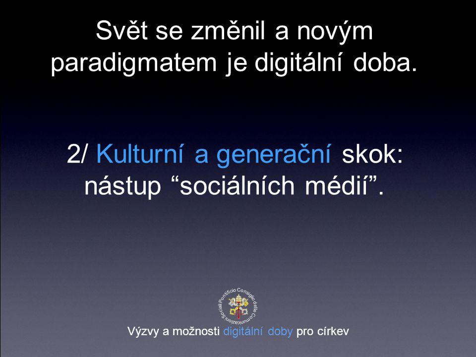 2/ Kulturní a generační skok: nástup sociálních médií .
