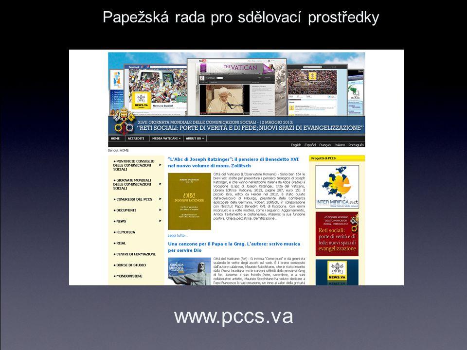 Papežská rada pro sdělovací prostředky www.pccs.va