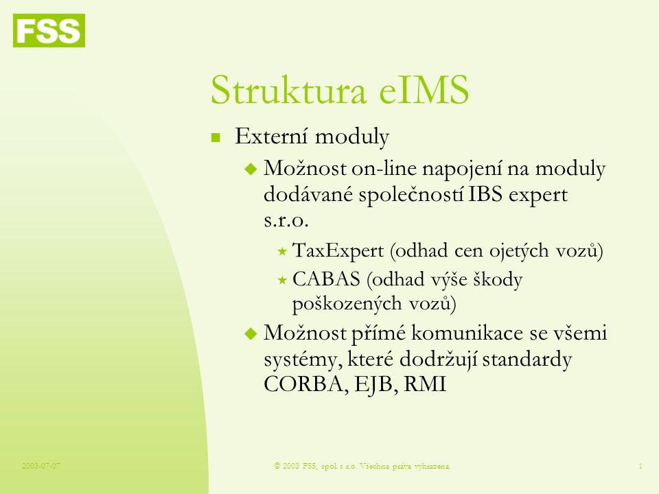 2003-07-07© 2003 FSS, spol. s r.o.