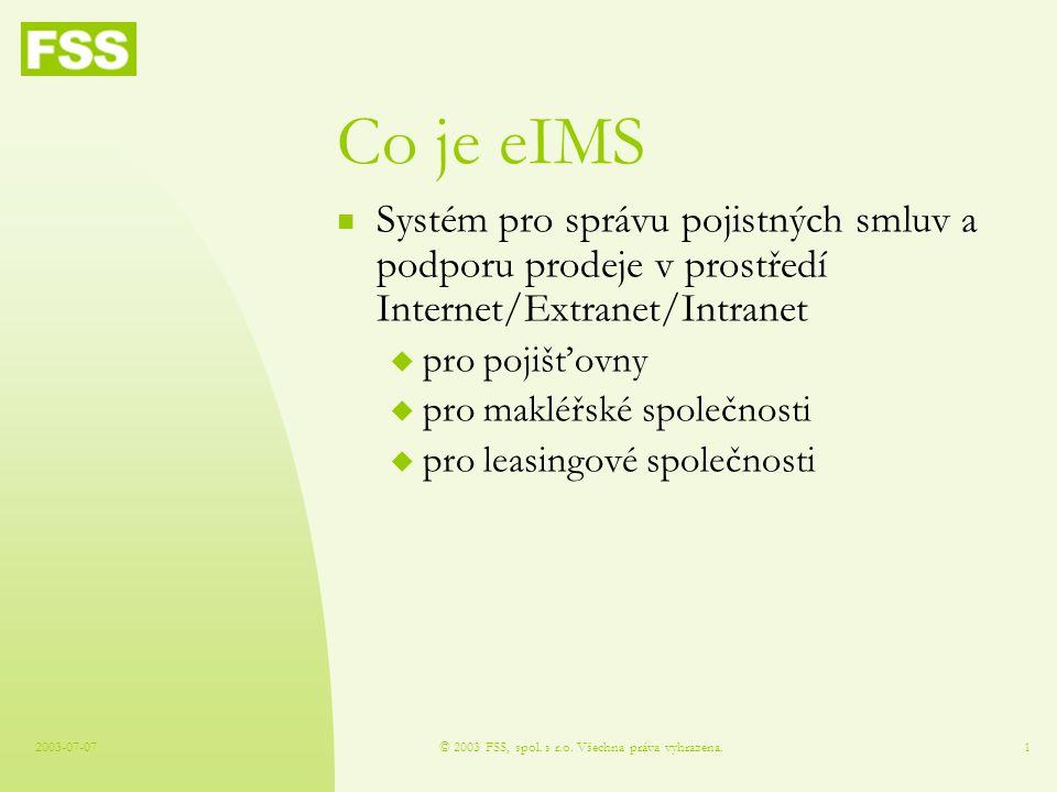 2003-07-07© 2003 FSS, spol.s r.o.