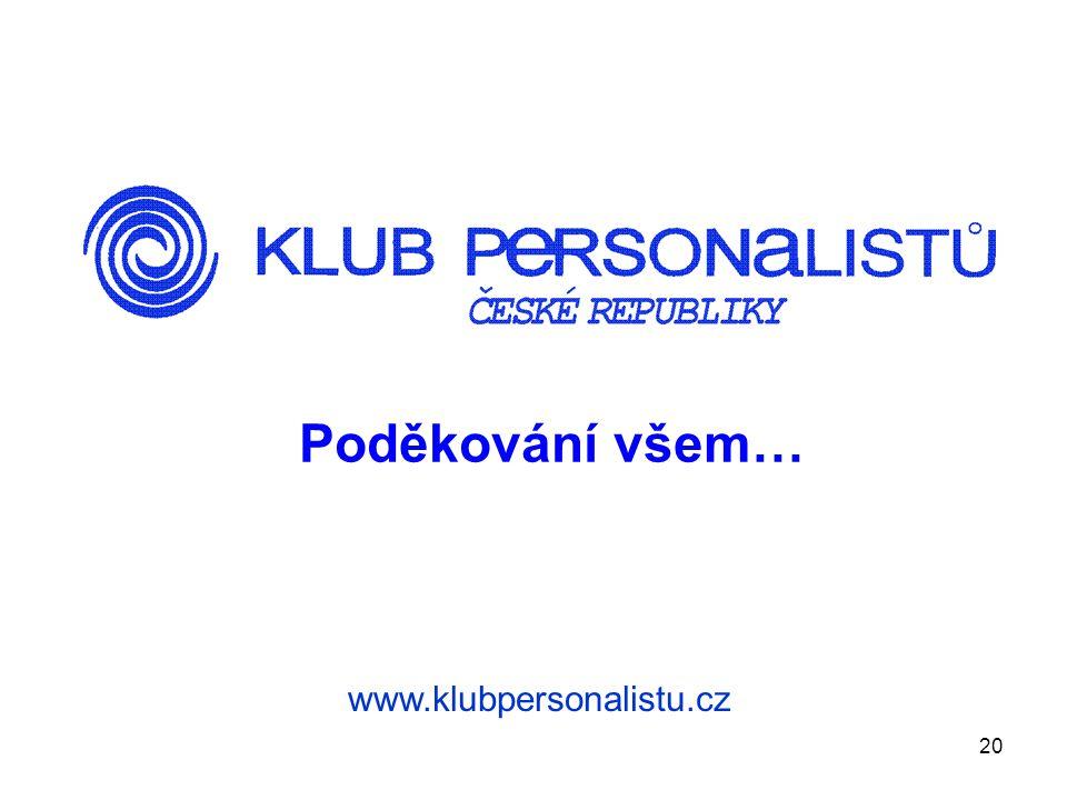 20 Poděkování všem… www.klubpersonalistu.cz