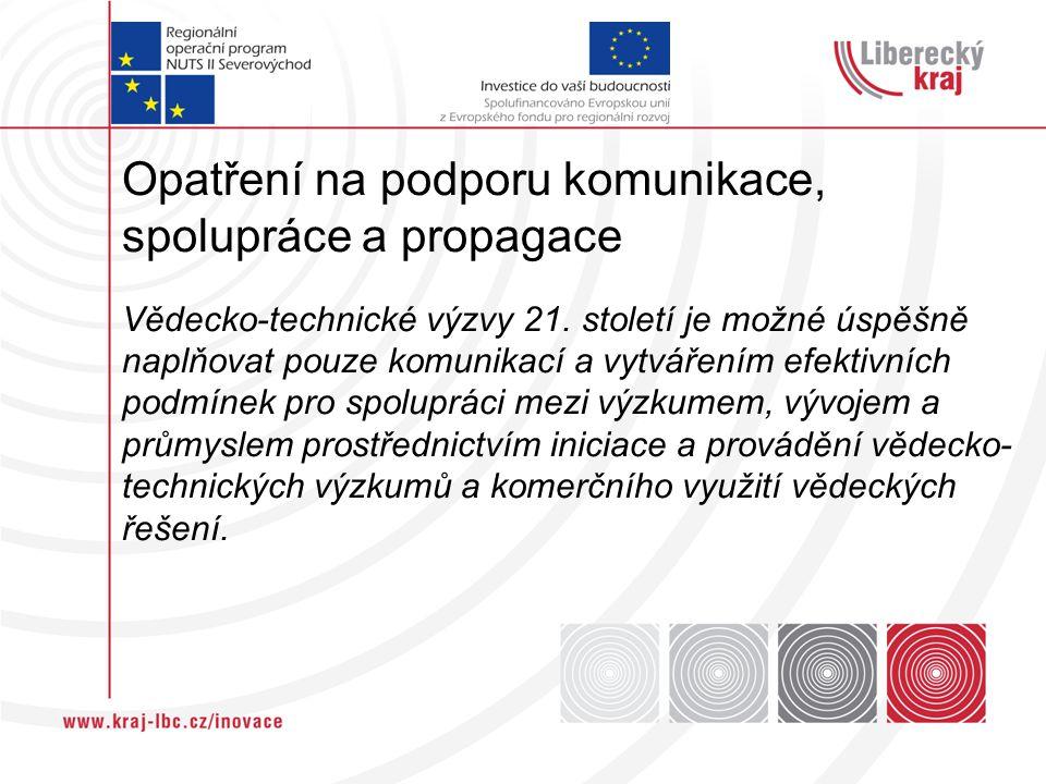 Opatření na podporu komunikace, spolupráce a propagace Vědecko-technické výzvy 21.