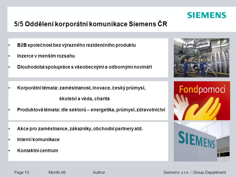 Page 10 Month-06 Siemens, s.r.o.