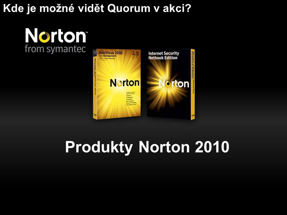 Produkty Norton 2010 Kde je možné vidět Quorum v akci