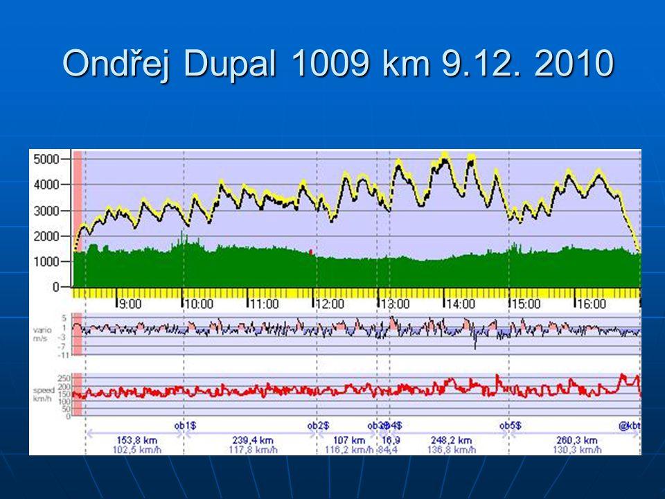 Ondřej Dupal 1009 km 9.12. 2010 Ondřej Dupal 1009 km 9.12. 2010