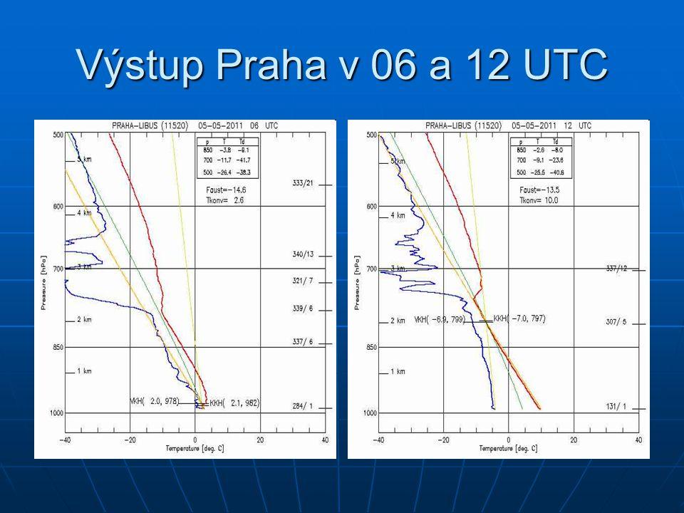 Výstup Praha v 06 a 12 UTC