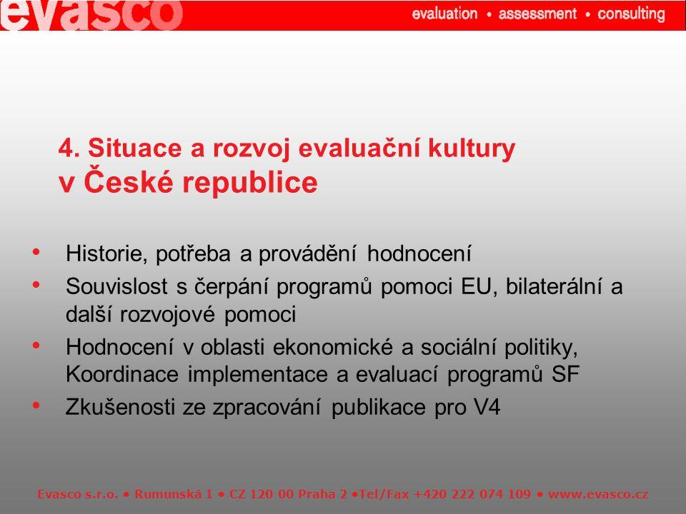 Evasco s.r.o. Rumunská 1 CZ 120 00 Praha 2 Tel/Fax +420 222 074 109 www.evasco.cz 4.