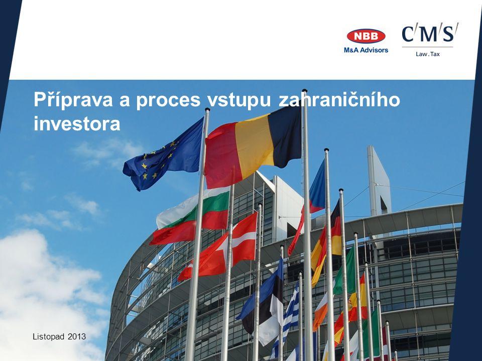 Listopad 2013 Příprava a proces vstupu zahraničního investora