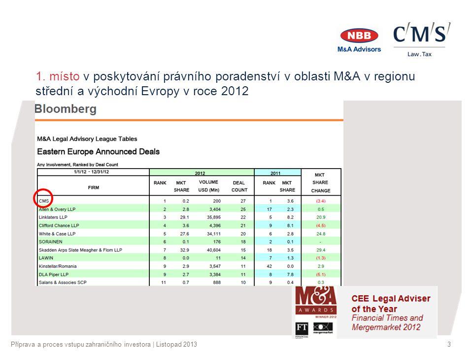 Příprava a proces vstupu zahraničního investora | Listopad 20133 1.