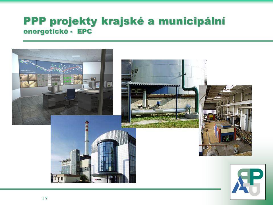 15 PPP projekty krajské a municipální energetické - EPC