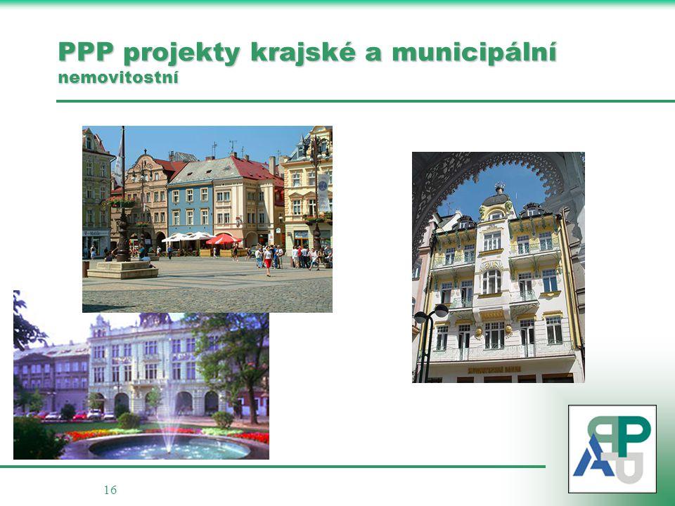 16 PPP projekty krajské a municipální nemovitostní