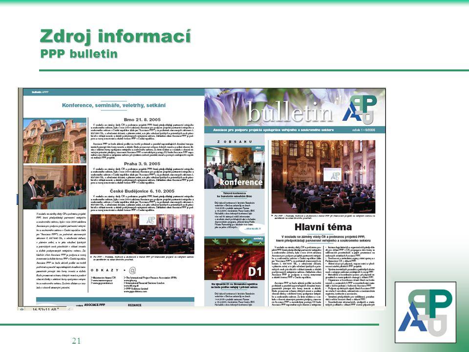 21 Zdroj informací PPP bulletin