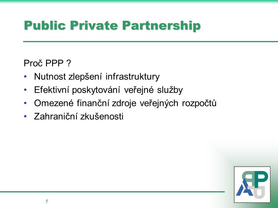 6 Public Private Partnership proces výběru partnera Standardní výběrové řízení Koncese / PPP zhotovitel provozovatel další dílčí služby / dodávky koncesionář