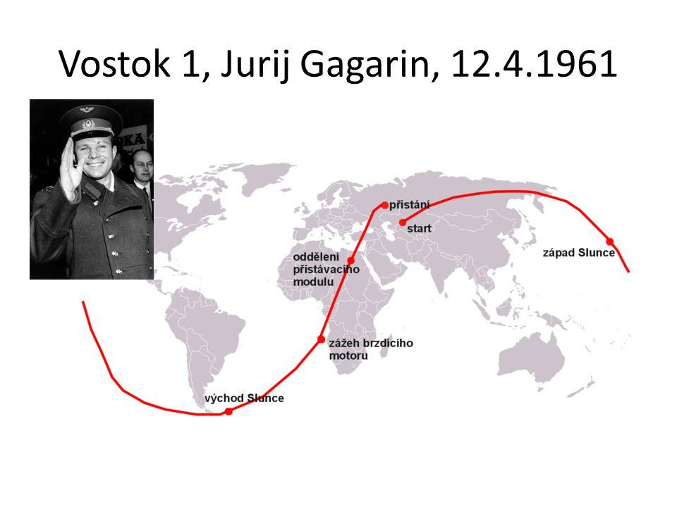 Vostok 1, Jurij Gagarin, 12.4.1961