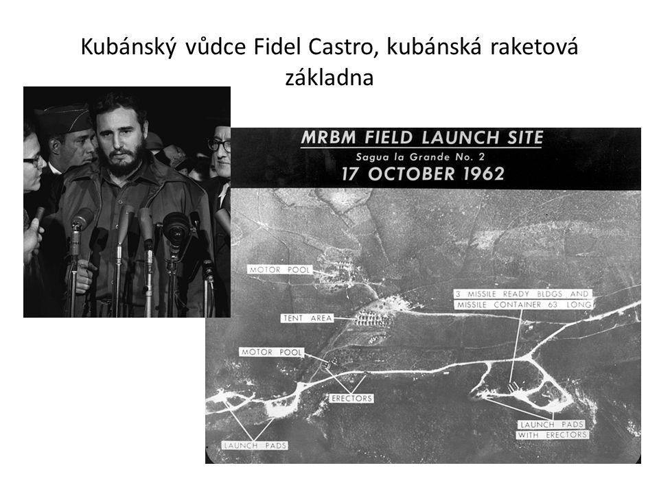 Kubánský vůdce Fidel Castro, kubánská raketová základna