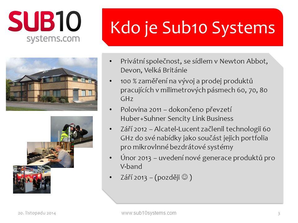 Privátní společnost, se sídlem v Newton Abbot, Devon, Velká Británie 100 % zaměření na vývoj a prodej produktů pracujících v milimetrových pásmech 60,
