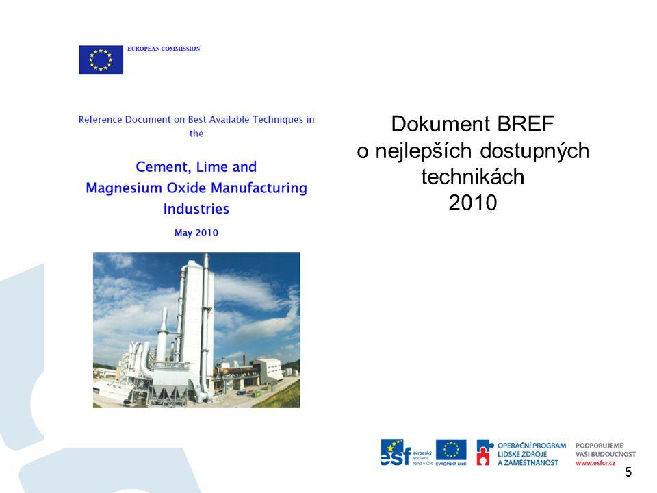 5 Dokument BREF o nejlepších dostupných technikách 2010