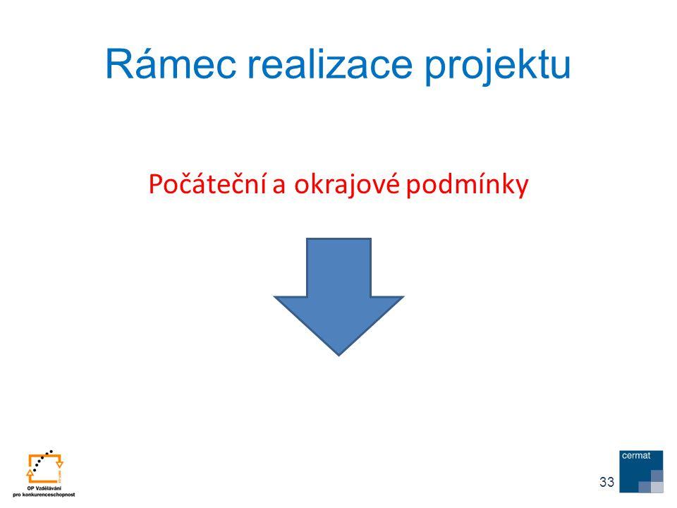 Rámec realizace projektu Počáteční a okrajové podmínky 33