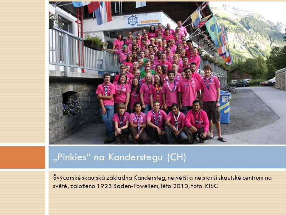 """Švýcarské skautská základna Kandersteg, největší a nejstarší skautské centrum na světě, založeno 1923 Baden-Powellem, léto 2010, foto: KISC """"Pinkies"""""""