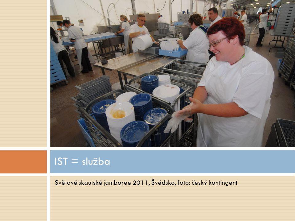 Světové skautské jamboree 2011, Švédsko, foto: český kontingent IST = služba