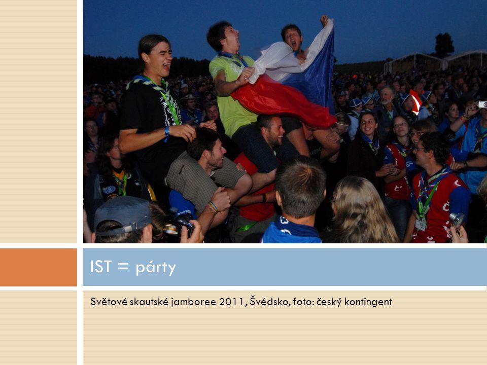 Světové skautské jamboree 2011, Švédsko, foto: český kontingent IST = párty