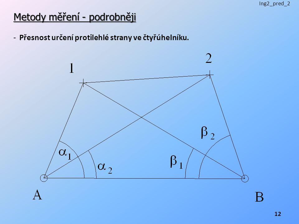 Metody měření - podrobněji - Přesnost určení protilehlé strany ve čtyřúhelníku. Ing2_pred_2 12