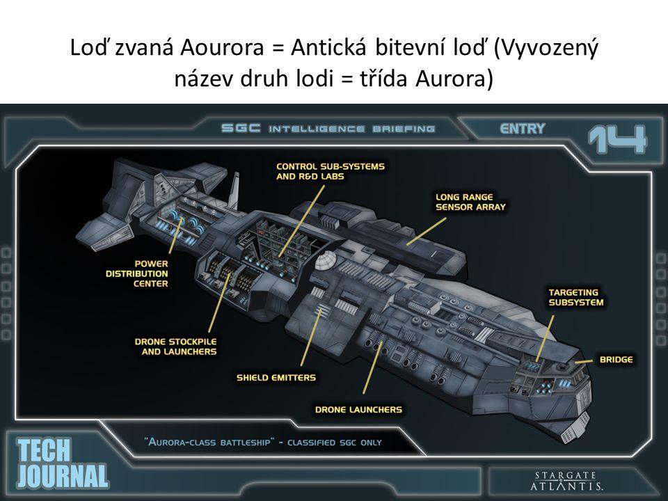 Loď zvaná Aourora = Antická bitevní loď (Vyvozený název druh lodi = třída Aurora)