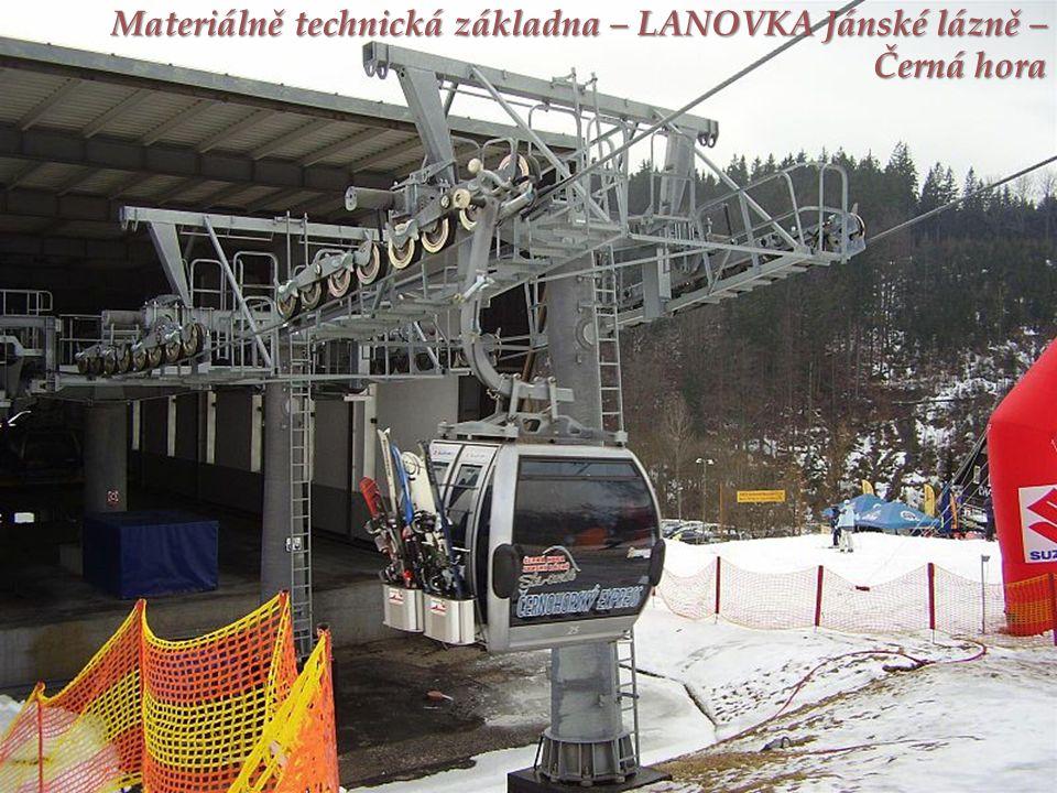 Materiálně technická základna – LANOVKA Jánské lázně – Černá hora