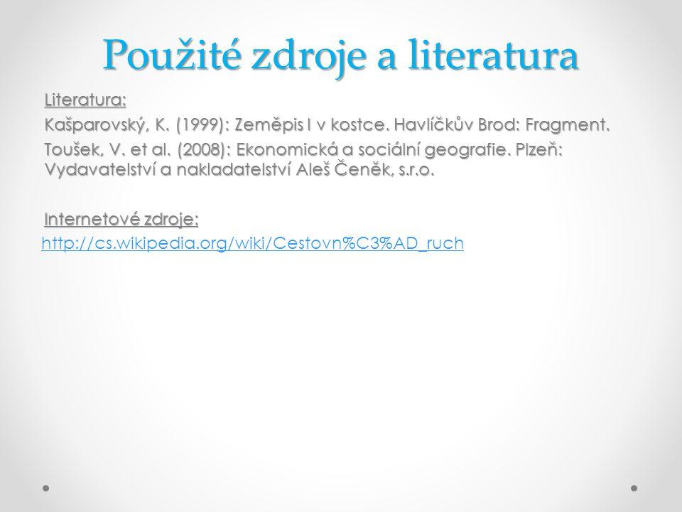 Použité zdroje a literatura Literatura: Kašparovský, K.