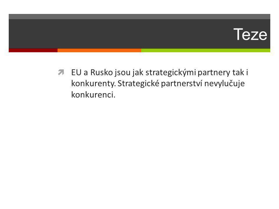 Teze  EU a Rusko jsou jak strategickými partnery tak i konkurenty.