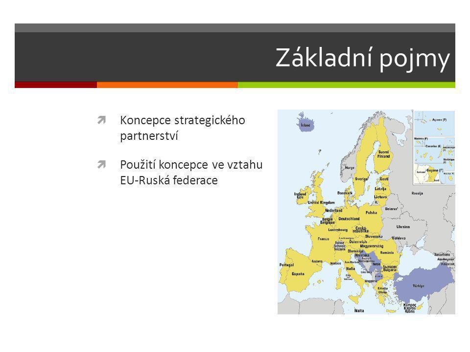 Základní pojmy  Koncepce strategického partnerství  Použití koncepce ve vztahu EU-Ruská federace
