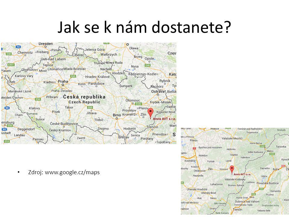 Jak se k nám dostanete? Zdroj: www.google.cz/maps