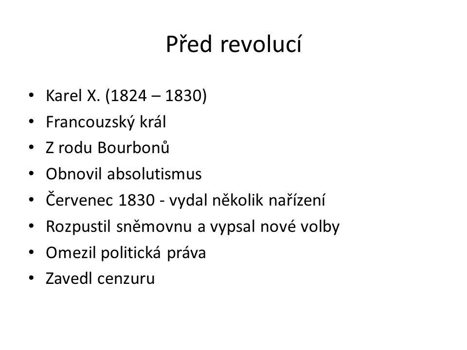 Před revolucí Karel X.
